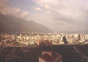 View looking east from the Parque Central area